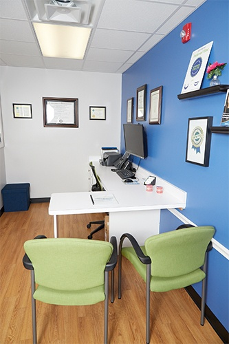 Orthodontic consultation room